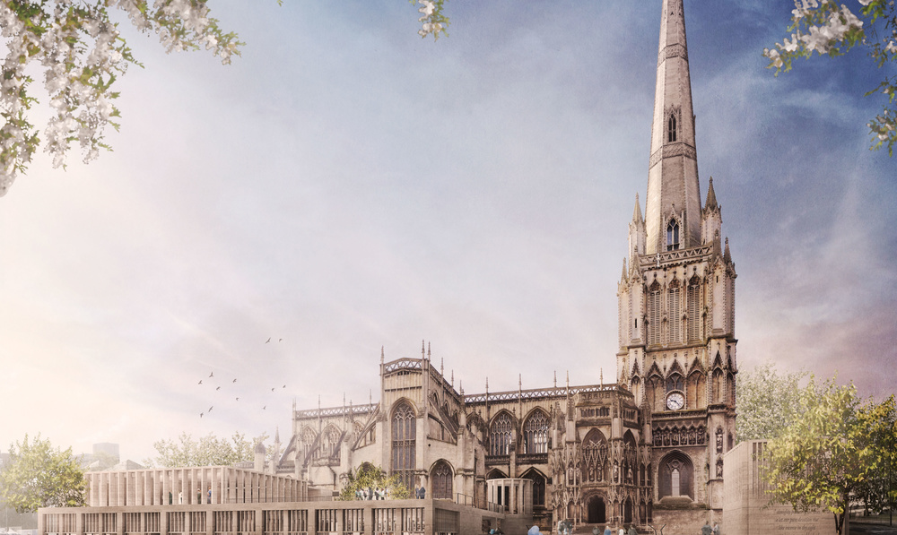 Designs by Grant Associates in shortlist for redevelopment of Bristol's St Mary Redcliffe Church