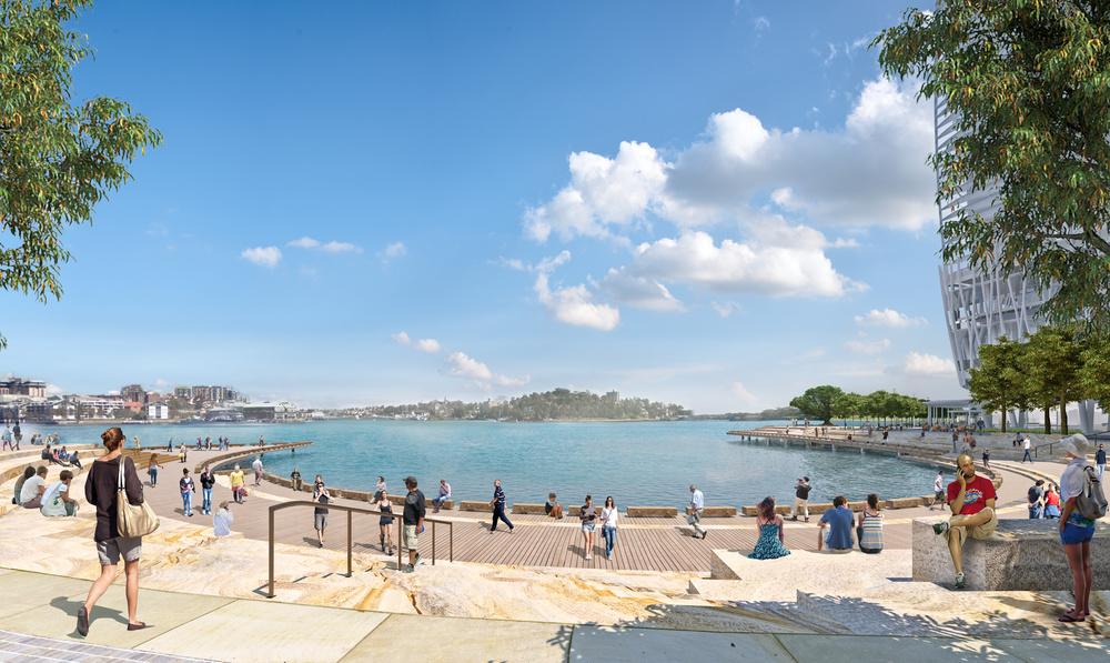 Grant Associates' design for public realm at Sydney's Barangaroo South revealed