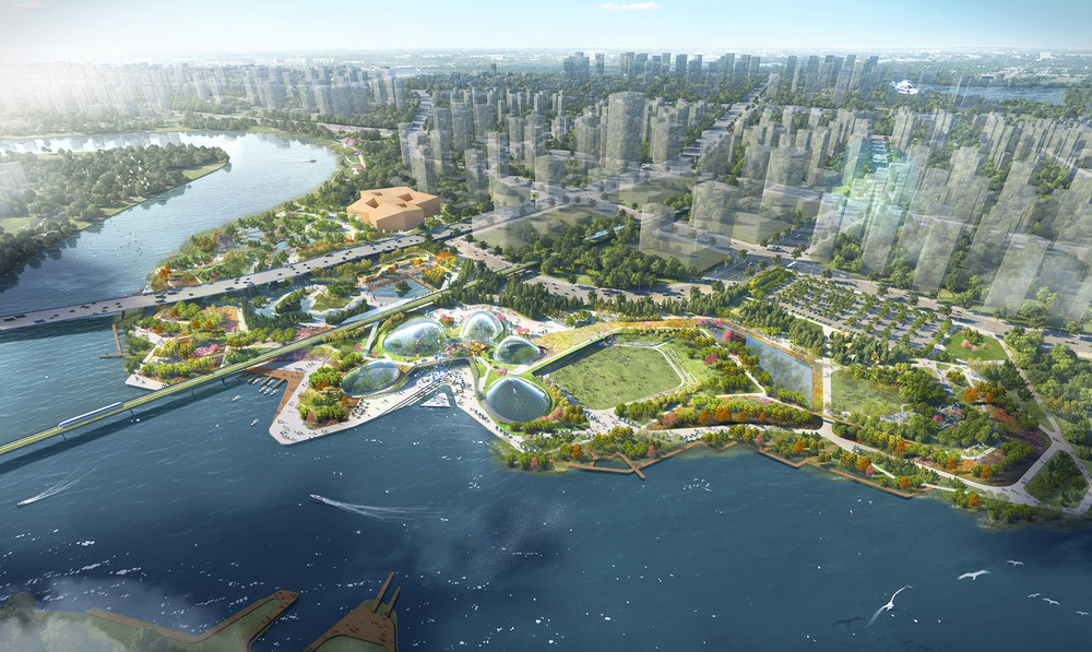 Grant Associates wins international competition to create city park for Tianjin, China