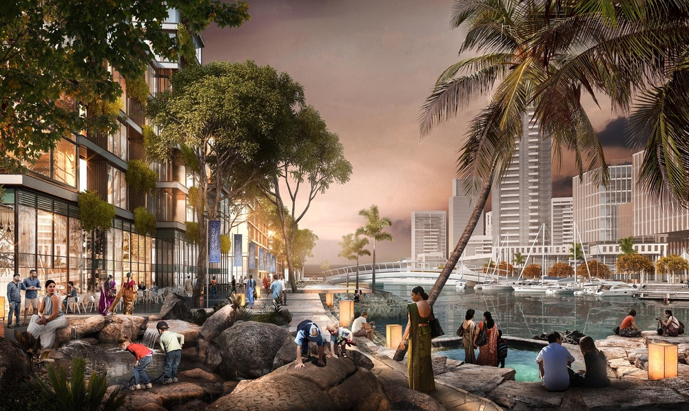 SOM masterplan for Colombo, Sri Lanka features designs by Grant Associates