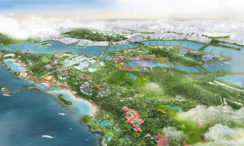 Grant Associates behind masterplan for reinvention of Singaporean islands Sentosa Brani